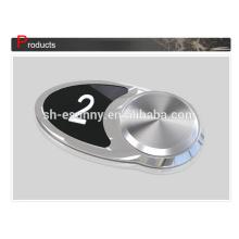 Top OEM vendre bouton poussoir noir ascenseur