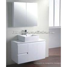 2 puertas y 2 cajones vanidad de baño blanco