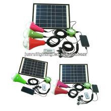 Barato útil CE solar prefabricada emergencia hogar iluminación led, solar led iluminación del hogar prefabricada