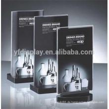 Preiswerter klarer handgemachter Acryltisch-Ausstellungsstand-Großverkauf