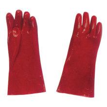 Профессиональная промышленная рабочая охрана труда Красные ПВХ-перчатки