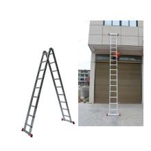 Hot sale 5 steps folding portable herringbone ladder aluminum with EN131