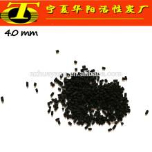 4 milímetros de adsorvente de carbono preto