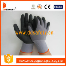 Black Nylon Black Nitrile Foam Glove Dnn151