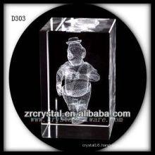K9 3D Laser Etched Image Inside Crystal Rectangle