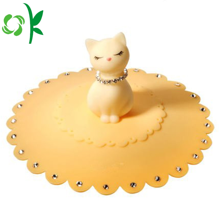 Cat Shape Silicone Coffee Mug Lids