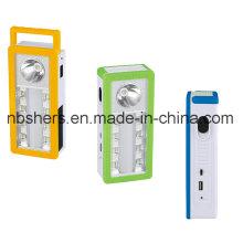 3 Funciones Lámpara de escritorio solar de la luz de emergencia del LED con el enchufe del USB