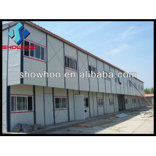 prefabricated steel beam sandwich panel house design for labor camp