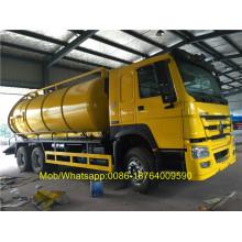 SINOTRUK 6X4 Caminhão de sucção de esgoto 16 CBM