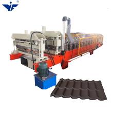 YUFA colour metal deck roof sheet glazed tile roll forming machine hot sale