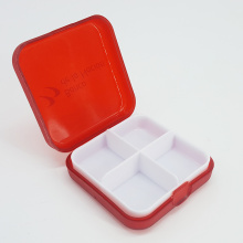 Detachable Tray 4 Grid Pocket Pill Box