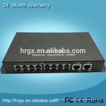 Menor preço e alta qualidade de áudio para conversor de fibra de 8 canais de telefone conversor óptico