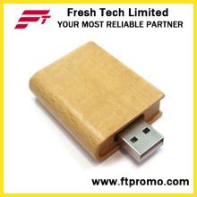 Экологичный флеш-накопитель USB Bamboo & Wood Book (D825)