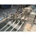 Extrusor de madera del borde del grano del alto brillante de las bandas de borde del PVC con un molde, cuatro tiras para el extrusor de las bandas de borde del PVC