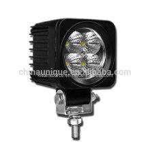 12W LED cuadrados trabajo luces para tractores y vehículos