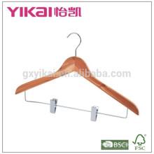 Best price cedar shirt hanger with metal clips
