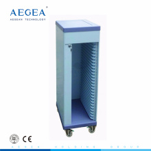AG-CHT006 CE ISO con la rueda de plástico del hospital paciente médico carro de archivo