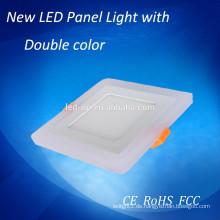 Doppeltes Farbenquadrat LED-Verkleidungs-Licht, kleines geführtes helles Panel mit 2 Jahren Garantie