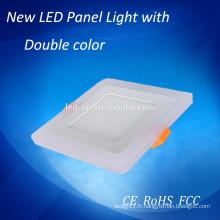 Double panneau lumineux carré LED, petit panneau Led Light avec 2 ans de garantie