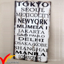 Shabby Chic Rusty Antique Wording Wood Plaque
