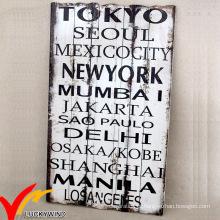 Shabby Chic Rusty Antique Wording Placa de madeira
