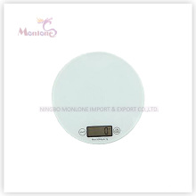 5 kg Glas + ABS Kunststoff Küche Elektronische Waage (18,5 * 18,5 * 1,6 cm)