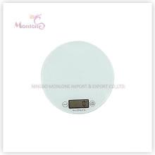 Échelle électronique de cuisine en plastique de verre de 5kg + ABS (18.5 * 18.5 * 1.6cm)