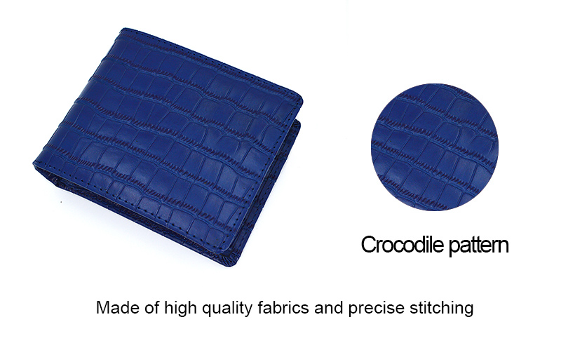 2019 Men Thin Crocodile Leather Purse Travel Wallet