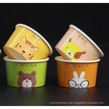 Kinder DIY Eisbecher Kuchen Tasse Getränk Einweg Papierbecher