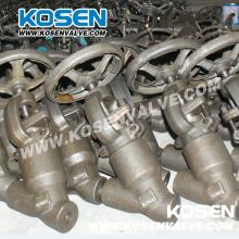 Válvulas de globo de aço forjado vedadas tipo Y
