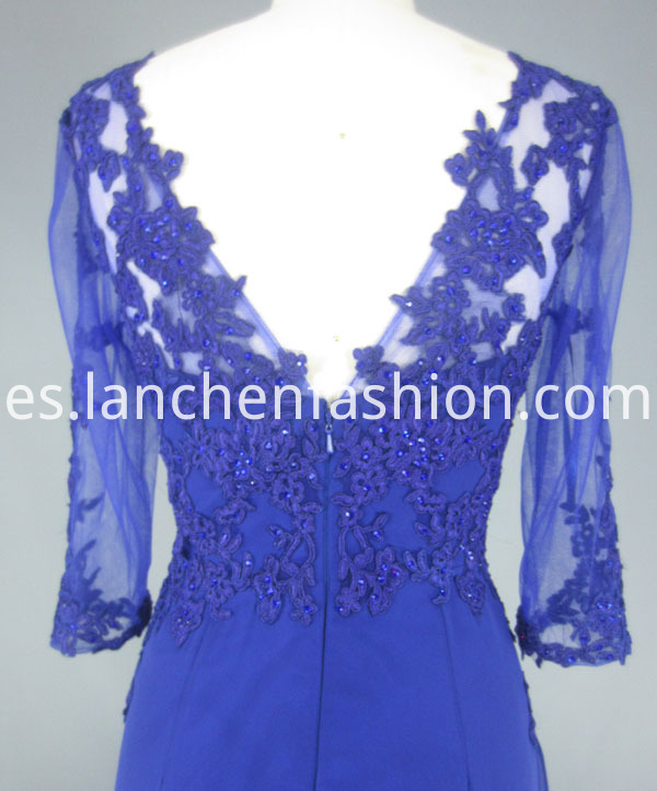 royal dress back detail