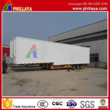 3 Axles 17.5 Meter Long Vehicle Wings Open Van Type Container Cargo Trailer