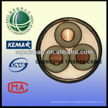 La rejilla de estado 35kV XLPE aisló el cable de la prueba del fuego del cable de transmisión de 3 * 300sqm m