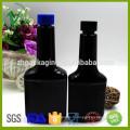 PET SGS approuvé rabais promotionnel plat noir vide carburant carburant additif bouteille avec bouchon à vis