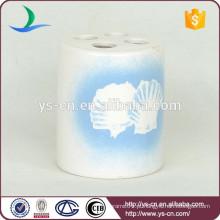 YSb40070-01-th Dolomite artesanato escova de duche de cerâmica titular