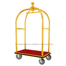 Stainless Steel Hotel Luggage Baggage Service Cart