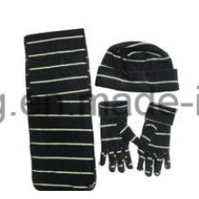 Cheap Knitting Winter Warm Printed Lady Polar Fleece Set