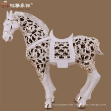 Christmas decoration floor ornament abstract poly animal figure resin horse sculpture