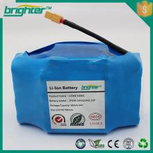 Bateria de lítio de 18650 3.7v para scooter de auto-balanceamento