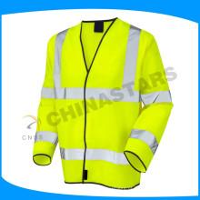 EN 20471 certificado fluo amarelo laranja roupa de segurança casaco de alta visibilidade