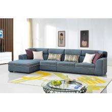Sofá de esquina de tela moderna para muebles de sala de estar