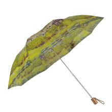 Frau zwei faltender japanischer Vintage-Regenschirm
