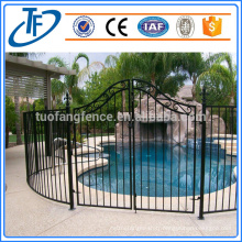 Clôture porte-piscine temporaire noire portative