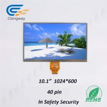 Anti-mancha 10.1 pulgadas Resolución 1024 Rgbx600 Caracteres LCD