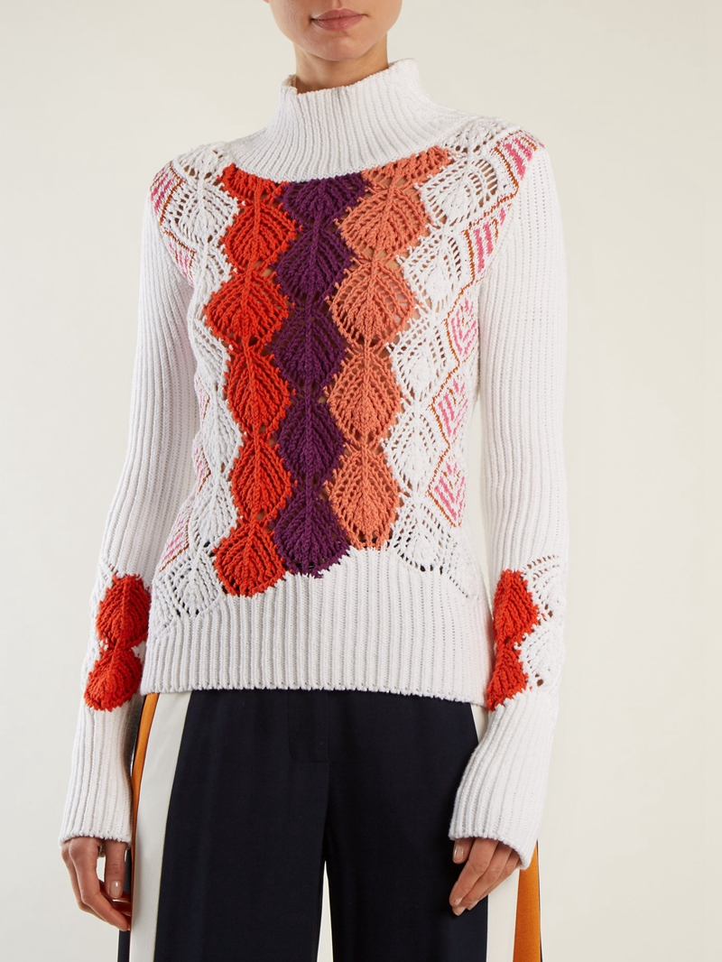 Hand Knitted Crochet Sweater