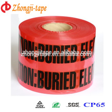Factory supply red pe underground electric line warning tape