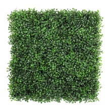 2017 new anti-uv green artificial boxwood plants for fixing on wall