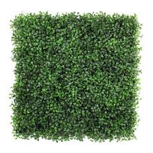 2017 новый анти-УФ зеленый искусственные растения самшита для крепления на стену