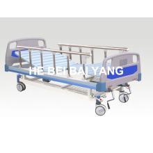 (A-51) - Bewegliches Doppel-Funktions-Handbuch Krankenhausbett mit ABS Bett Kopf