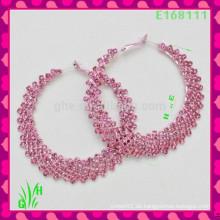 Die neuesten Design Schöne große Drop Ornament Ohrringe, neue rosa C Ohrringe